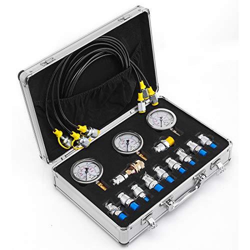 BananaB Hydraulische Manometer Tester 600Bar Hydraulic Pressure Tester kit 8700PSI Pressure Gauge Kit hydraulikdruck set für Bagger