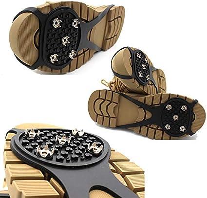 MEIMING 2 Pares De Pinzas De Agarre Antideslizantes Universales Antideslizantes sobre El Calzado Tacos Duraderos Buena Elasticidad Accesorios para Zapatos F/áciles De Tirar A