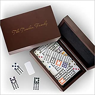 Domino Set in a Personalized Wood Box - 3558