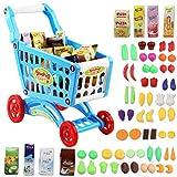deAO Carrito de la Compra Infantil Incluye Variedad de 50 Productos de...