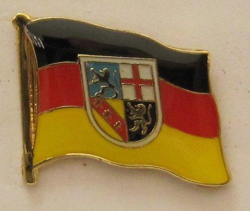 Pin Anstecker Flagge Fahne Saarland / Saar Landesflagge Flaggenpin Badge Button Flaggen Clip Anstecknadel
