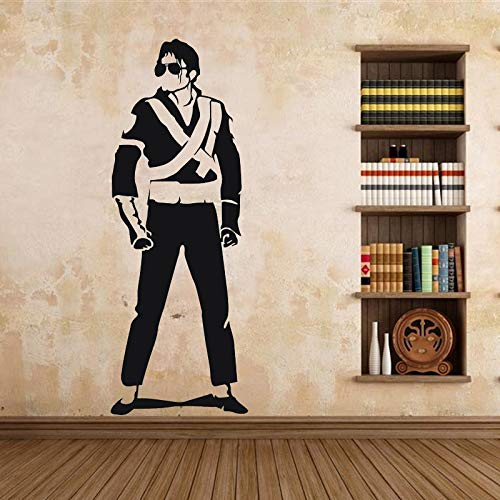 uytrew Rockmusik Tanz Super Star Klassische Pose King of Pop Uniform Sonnenbrille Michael Jackson MJ Wandaufkleber Schlafzimmer Studio Band Home Decoration Vinyl Decal Wandbild