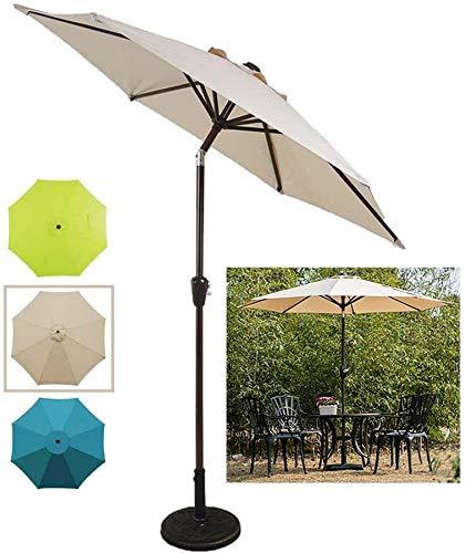 Wghz Sombrilla de jardín inclinable 2.25m/7.4ft Sombrilla de Mesa de Mercado para Patio al Aire Libre con manivela y función de inclinación, para terraza de jardín, Camping, Restaurante, césped