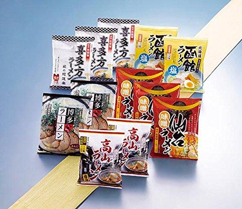 諸国ラーメンセット(12食入り)【生麺の乾麺,ノンフライ,低カロリー,日本全国選抜ラーメン】