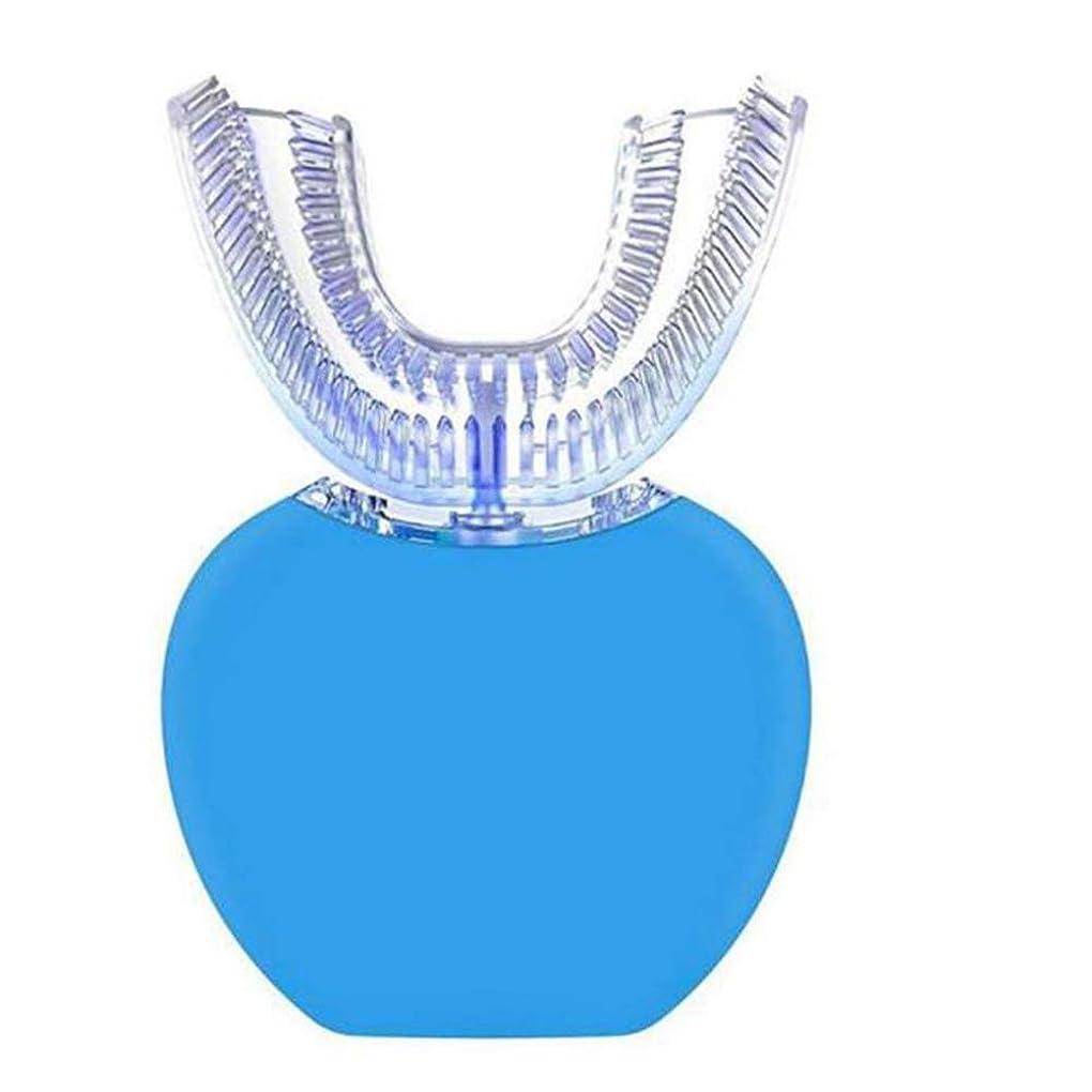 パット夜明けに親電動歯ブラシ怠惰なウィット冷たい光ホワイトニング自動歯クリーナー歯ブラシ歯の汚れを削除します。,Blue