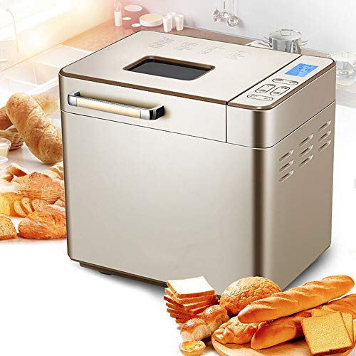 24-in-1Bread Machine, Stainless Steel Automatic Intelligent Bread Maker Machine LCD HD Display 170℃-200℃, 25 Menus, Hidden Seasoning Tray,Keep Warm