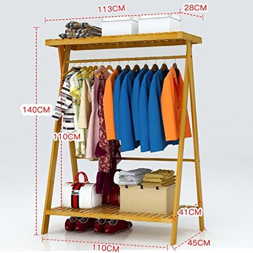 Meters Perchero, perchas de dormitorio en el suelo perchero simple perchero de madera maciza tipo económico perchero multifuncional ( Tamaño : 110cm )