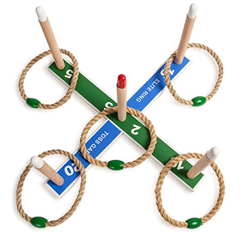 Champion Sports RT1 Kids and Family Ring Toss Game: Indoor Outdoor Party Fun, Games on the Lawn & Adults and Families