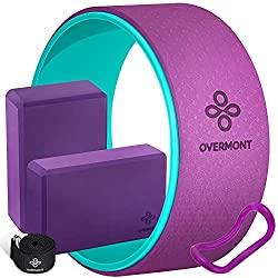 Overmont 5-in-1 Set, 1 Yoga Wheel for Back Pain