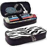 Astuccio per matite Borsa in pelle Custodia per penna Organizer per ufficio Porta cartoleria con cerniera Zebra Pattern