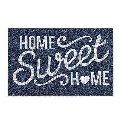 """Home Sweet Home Door Mat Outdoor Indoor Welcome Mat Large 24""""x36"""" with Non Slip Rubber Backing Ultra Absorb Mud Easy Clean Front Door Entrance Heavy Duty Doormat"""
