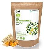 ASHWAGANDHA PULVER BIO 500g // ECHTE Indische Withania Somnifera // Reines Bioprodukt // Schlafbeere, indischer Ginseng, Winterkirsche // Root Powder // Premium Qualität von Detox Organica -