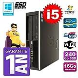 PC HP 8200SFF Intel i5–240016GB disco 240GB SSD grabador Wifi W7