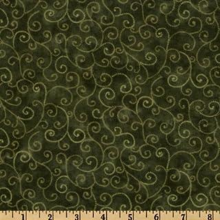 44`` Wide Moda Marble Swirls (9908-47) Pine Green Fabric By The Yard
