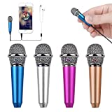 Uniwit Mini Portable Vocal/Instrument Microphone for Mobile Phone Laptop Notebook Apple iPhone Sumsung Android with Holder Clip - Blue