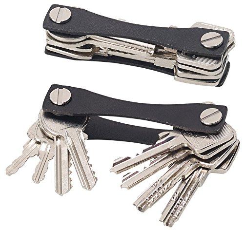 PEARL Schlüsselhalter: Schlüssel-Organizer für bis zu 24 Schlüssel, aus Aluminium, schwarz (Schlüsselordner)