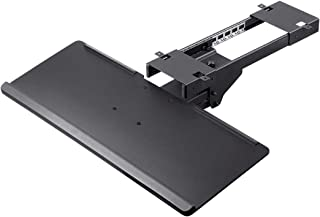 Monoprice Adjustable Ergonomic Keyboard Tray - Black with Full Size Platform - Workstream Collection