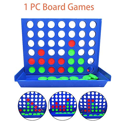 1 PC-Brettspiele 4 in einer Reihe Strategie-Brettspiele Familienspaß Geeignet für Kinder, Jungen und Mädchen