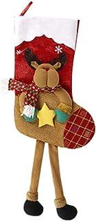 ADKY, ADKYCalcetines navideños Calcetines de regalo de Navidad Colgante de árbol de bolsa de regalo de Navidad