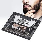 Beard Blackening Shampoo,Beard Shampoo Beard Blackening Dye Natural Black Only 5 Minutes (75ML)