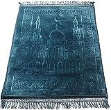 Alfombras Rezar Azul para Musulmanes - 120x80 Cm