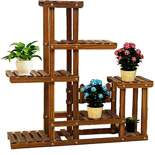 JueYan Multi-Tier Étagère de Porte-Fleurs - Support de Fleur Porte Plante Extérieur/Intérieur Décorative pour Jardin Balcon Terrasse 95 x 96 x 26cm