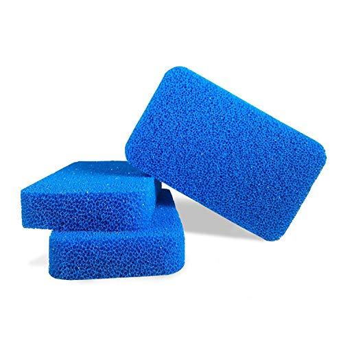 Antimikrobieller Silikon-Geschirrschwamm von Smith's (3 Stück in Blau) | Moderne Küchen - und Geschirrschwämme | 100% Schimmel- und Bakterienresistent | 10-mal haltbarer!