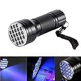 Torcia UV Torcia ultravioletta, 21 torcia a LED a torcia UV Blacklight, lampada a torcia portatile per rilevatore di urina per animali domestici, trova macchie sul pavimento di tappeti per vestiti