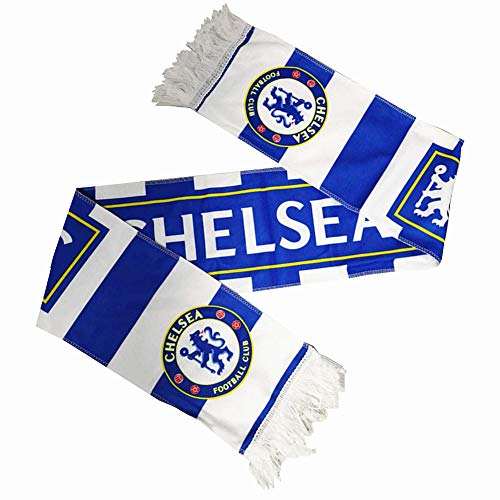 Chelsea Football Club AccessoryDouble Side Scarf Gift/Souvenir for Soccer Fans Size 57inch - 6.3inch
