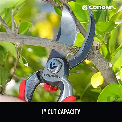 Corona BP 7100D Forged DualCUT Bypass Hand Pruner, 1-Inch Cut, Steel