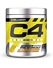 Pre-workout Powder C4 Original Orange Burst   Pre-workout Energy Drink Supplement   150mg Cafeïne + Bèta-alanine + Creatine-monohydraat   60 Doseringen