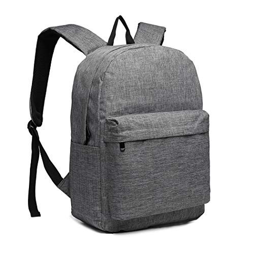 Kono School Backpack Lightweight Water Resistant College Casual Daypacks Rucksack Travel Bag Fits 15.4 Inch Laptop 22L (Grey)