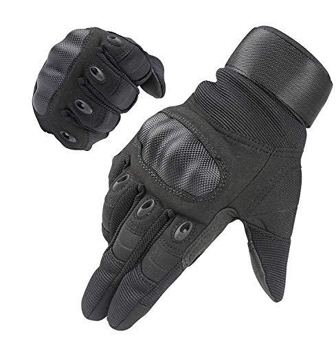 HIKEMAN Handschuhe für Männer und Frauen Touch Screen Hart Knuckle Handschuhe für Outdoor Sport und Arbeit geeignet für Radfahren Motorrad Wandern Klettern Lumbering Heavy Industry (Black, X-Large)