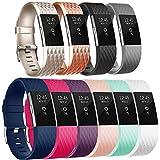 Tobfit Bracelet de rechange réglable pour Fitbit Charge 2, #Special 10-pack, petit