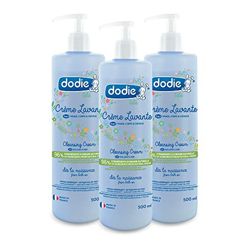 Dodie - Lote De 3 Crema De Lavado - 500Ml, 6 unidades