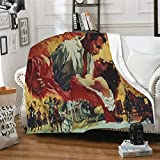 JANIEMIUSE Novelty Blanket Throw Gone with The Wind Super Soft Fleece Plush Blankets for Couch Comfort mat Fuzzy Microfiber Flannel Lightweight Throw Blanket for Fall Winter and Spring 80' x60