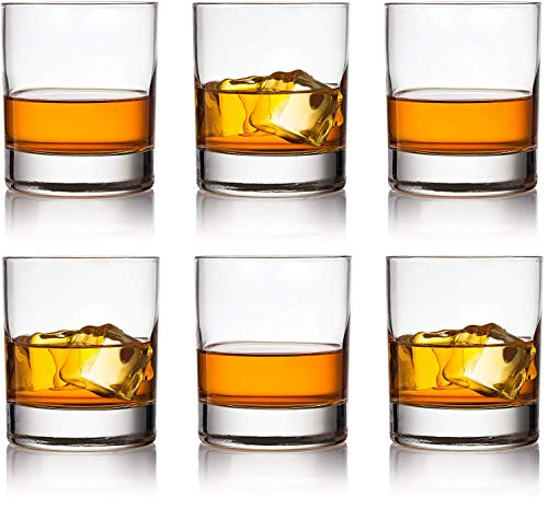 Circleware 44615 Soiree Whiskey, Set of 6, Kitchen Drinking Glasses Glassware for Water, Juice, Ice Tea, Beer, Wine and Bar Liquor Dining Decor Beverage Gifts, 12 oz, Bohemia DOF 6 pc. 12oz