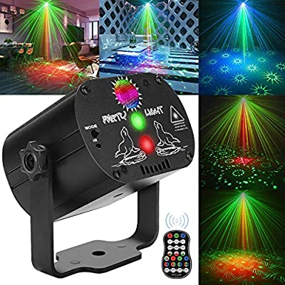 CAIYUE Party Lights DJ Lights, Disco Stage lights Strobe lights dj equipment Strobe Perform for Stage Lighting with Remote Control for Dancing Thanksgiving party Birthday