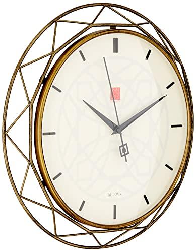Bulova clocks c4834 luxfer prism 14 inch frank lloyd wright inspired...