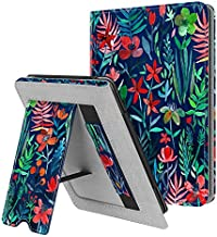 Fintie Stand Case for Kindle Paperwhite (Fits All-New 10th Generation 2018 / All Paperwhite Generations) - Premium PU Leather Protective Sleeve Cover with Card Slot and Hand Strap, Jungle Night