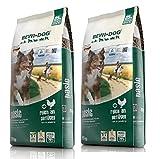 2x 25kg bewi Dog Basic Paquete ahorro para ausgewachsene Perros con alcance normal de actividad