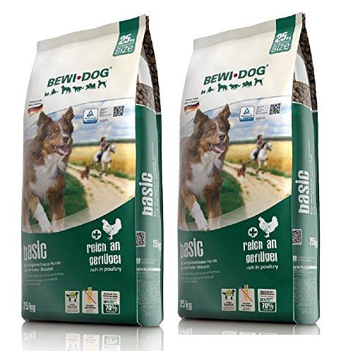 2 x 25 kg Bewi Dog Basic SPARPAKET für ausgewachsene Hunde mit normaler Aktivität