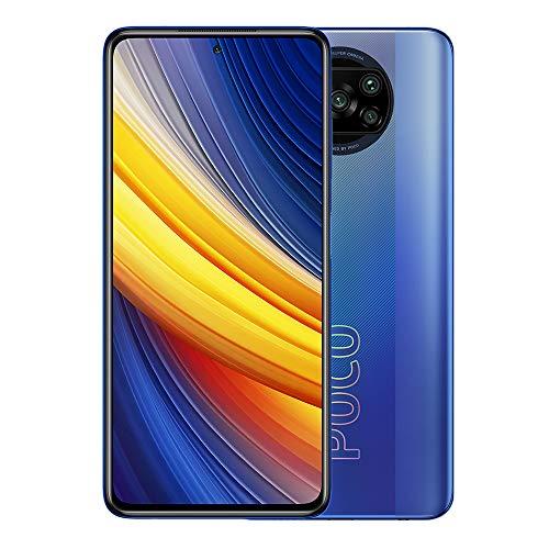 Xiaomi Poco X3 Pro-Smartphone 6GB 128GB Teléfono,6,67' DotDisplay FHD+,Procesador Snapdragon 860,48MP AI Cámara Cuádruple con NFC,SIM 1 + Slot híbrido,Versión Global(Azul)