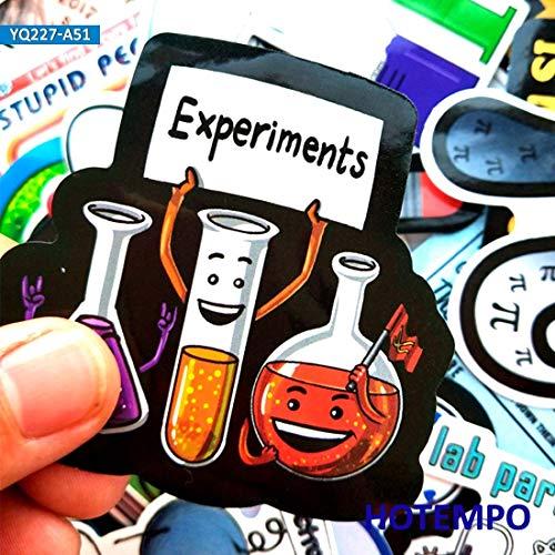 Science Laboratorium Chemische wiskunde Symbool Element Formule Gemengde Stijl Stickers Voor Telefoon Laptop Bagage Koffer Skateboard 50 stks