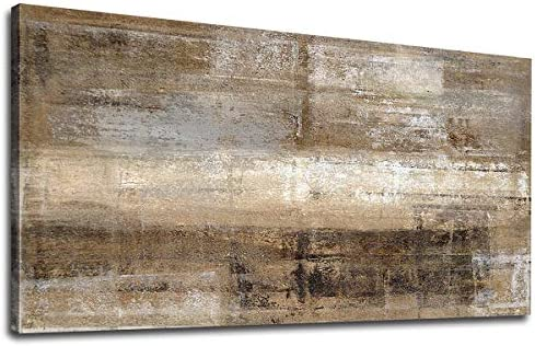 Canvas Wall Art Vintage Abstract Picture Brown Abstract Painting Canvas Artwork Prints for Home product image