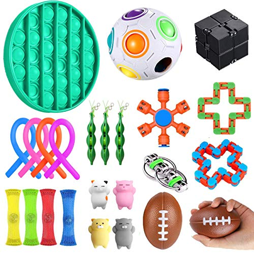YAOJIN 23 Stück Anti Stress Spielzeug Set, Fidget Spielzeug Set,Sensory Toys für Stressabbau und Anti-Angst für Kinder und Erwachsene ADD ADHS