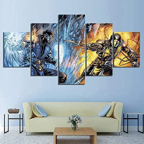 Stampa su Tela Wall Art Poster modulare 5 pannelli gioco HD immagine moderna decorazione Della casa pittura soggiorno No Frame