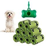 Ealicere 135 Sacchetti di Cacca di Cane,Verde Sacchetti igienici Sacchetti per escrementi del cane Con dispenser e clip per attacco al guinzaglio, confezione da 135 sacchetti,Anti Perdita e Inodore