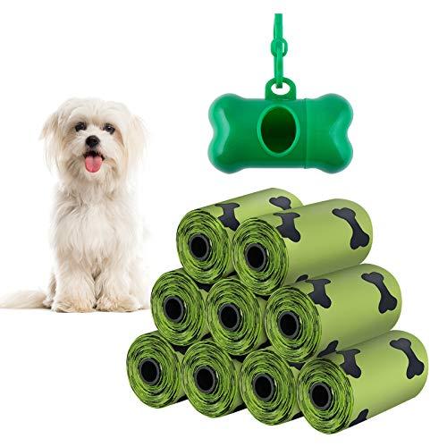 Ealicere 135 Beutel Hundekotbeutel kot, Hundebeutelspender,Kotbeutel Hund mit Beutelspender und Leinenclip, Auslaufsicher und Reißfest,15 Beutel pro Rolle