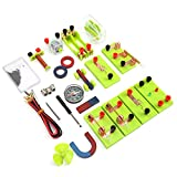 Kit de aprendizaje de magnetismo de electricidad Juguetes de aprendizaje Kit de circuito eléctrico de bricolaje Electromagnetismo Electrónica elemental